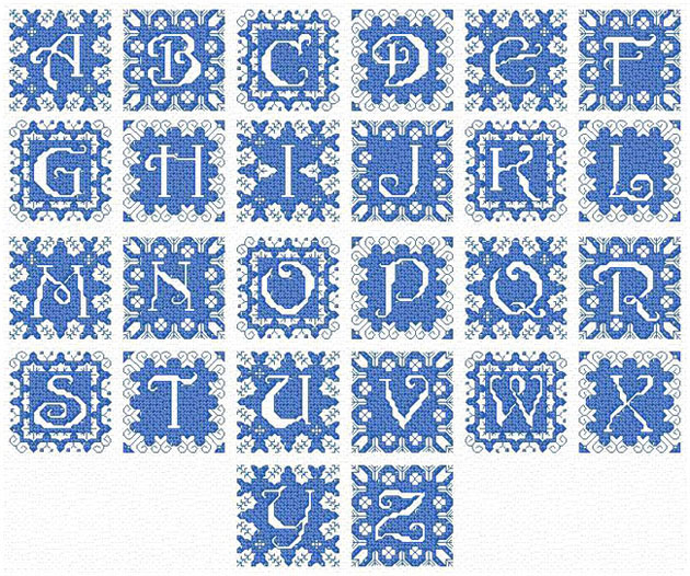 Free Cross Stitch Alphabet Patterns to Print