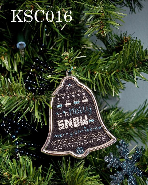 Maria Diaz Designs Silver Bell SNOW Xmas Tree Decoration