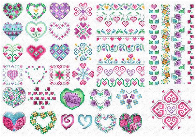 free cross stitch flower patterns � catalog of patterns