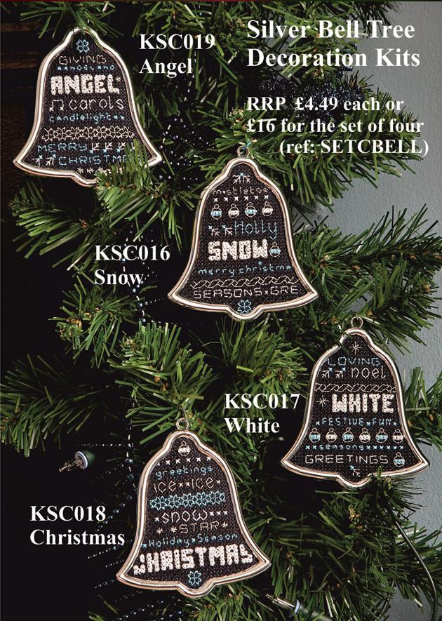 Maria Diaz Designs Silver Bell Set All 4 Xmas Tree