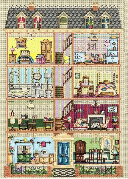 Maria Diaz Designs Edwardian Dolls House